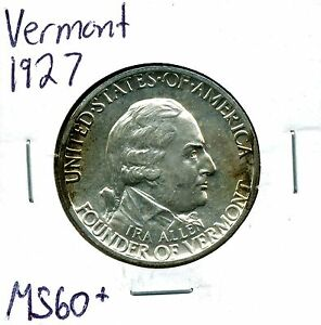 1927 50C VERMONT COMMEMORATIVE HALF DOLLAR IN UNCIRCULATED CONDITION