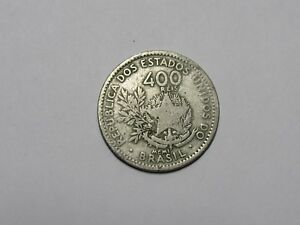 OLD BRAZIL COIN   1901 400 REIS   CIRCULATED