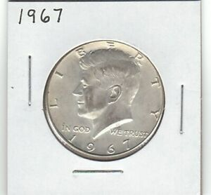 1967 P 40  SILVER KENNEDY HALF DOLLAR COIN   PHILADELPHIA MINT