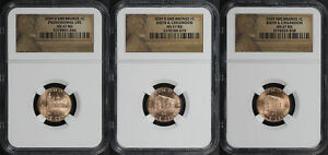 3 PC. 2009 D & P SMS BRONZE LINCOLN BICENTENNIAL CENTS NGC MS 67 RD 179161