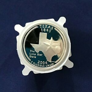 Click now to see the BUY IT NOW Price! 2004 S TEXAS STATEHOOD SILVER QUARTER DCAM PROOF ROLL OF 40 COINS
