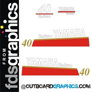 Yamaha 60hp Enduro Outboard motor Decal Kit Reproduction Decals in Stock