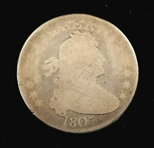 1807 DRAPED BUST QUARTER  A MINTAGE OF JUST 220 643