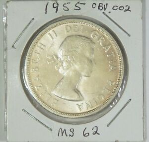 1955 WL  ICCS GRADED MS 62  ICCS QM 802   80  SILVER DOLLAR COIN OBV.  002