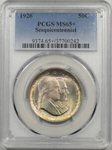 Click now to see the BUY IT NOW Price! 1926 SESQUICENTENNIAL COMMEMORATIVE HALF DOLLAR PCGS MS 65