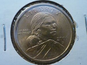 2006 DENVER UNC GOLD COLORED SACAGAWEA U.S. ONE DOLLAR COIN
