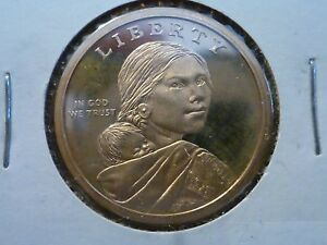 2010 SAN FRANCISCO PROOF GOLD COLORED SACAGAWEA ONE DOLLAR COIN