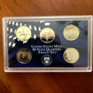 1999 S UNITED STATES STATEHOOD PROOF QUARTERS CN CLAD SET. 5 COIN SET.  SEALED