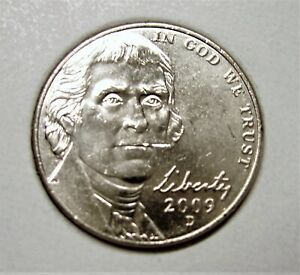 2009 D BU JEFFERSON NICKEL PULLED FROM OBWROLL