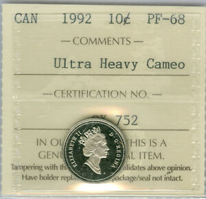 Click now to see the BUY IT NOW Price! 1992 CANADA 10 CENTS PROOF ULTRA HEAVY CAMEO FINEST GRADED  .