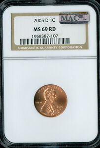 Click now to see the BUY IT NOW Price! 2005 D LINCOLN CENT NGC MAC MS 69 RED BUSINESS STRIKE SOLO FINEST SPOTLESS .