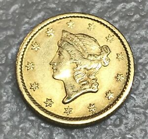 1853   $1 GOLD LIBERTY TYPE ONE  XF