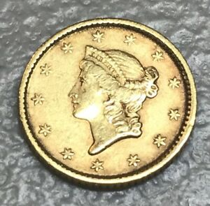 1852   $1 GOLD LIBERTY TYPE ONE  XF