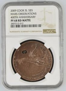 Click now to see the BUY IT NOW Price! 2009 COOK ISLANDS SILVER $5   MARS OBSERVATIONS   PF68 RD MATTE   NGC COIN POP 4