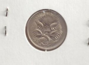 AUSTRALIA 5 CENT COIN 1976 ELIZABETH II BEAUTIFUL CONDITION ECHIDNA