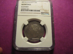 Click now to see the BUY IT NOW Price! 1871H CANADA 50C AU