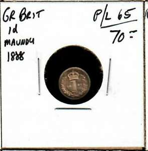 1888 GREAT BRITAIN MAUNDY PENNY NICE