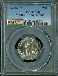 Click now to see the BUY IT NOW Price! 2013 D MOUNT RUSHMORE QUARTER PCGS MAC MS 68 PQ FINEST GRADED SPOTLESS .