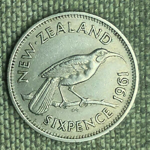 NEW ZEALAND 6 PENCE 1961   A04525