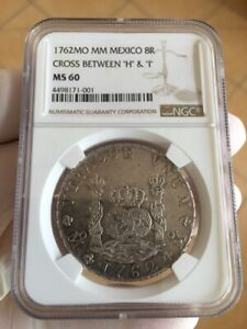 Click now to see the BUY IT NOW Price! MEXICO 1762 MO MM 8 REALES IN NGC MS60