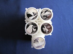 Click now to see the BUY IT NOW Price! 2007 S SILVER STATEHOOD QUARTER PROOF ROLL SET