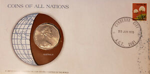 COINS OF ALL NATIONS   AUSTRALIA   FRANKLIN MINT FIRST DAY COVER
