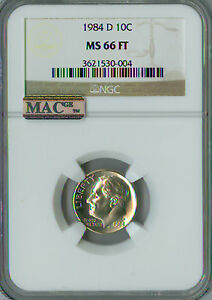 Click now to see the BUY IT NOW Price! 1984 D ROOSEVELT DIME NGC MAC MS 66 FT PQ SPOTLESS .