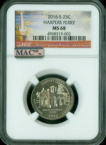 Click now to see the BUY IT NOW Price! 2016 S HARPERS FERRY QUARTER NGC MAC MS 68 PQ FINEST GRADE SPOTLESS  .