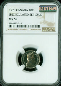 Click now to see the BUY IT NOW Price! 1998 CANADA TEST 10 CENTS NGC MAC MS 67 PQ 2ND FINEST GRADE POP 1 SPOTLESS .