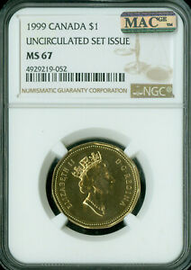 Click now to see the BUY IT NOW Price! 1999 CANADA LOON DOLLAR NGC MAC MS 67 PQ SOLO FINEST GRADE SPOTLESS .