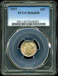 Click now to see the BUY IT NOW Price! 1917 10C LIBERTY HEAD MERCURY DIME MS66FB PCGS 25668502
