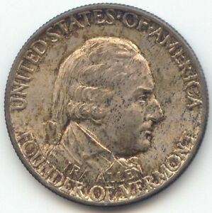 1927 VERMONT COMMEMORATIVE HALF DOLLAR ORIGINAL TONED CHBU