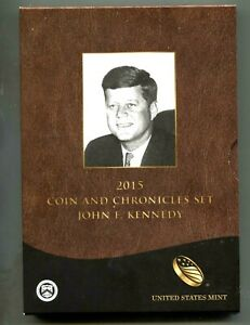 2015 JOHN F. KENNEDY COIN AND CHRONICLES SET   PROOF $1   SILVER MEDAL