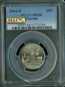 Click now to see the BUY IT NOW Price! 2004 D TEXAS QUARTER PCGS MAC MS68 PQ 2ND FINEST GRADE SPOTLESS .