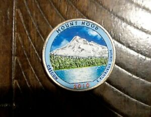 2010 P MOUNT HOOD  OREGON  COLORIZED QUARTER