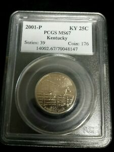 2001 P WASHINGTON STATEHOOD QUARTER   PCGS MS67   KENTUCKY