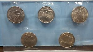 SET OF 5 2005 P STATE QUARTERS IN MINT CELLO; CA MN OR KS WV CHOICE TO GEM