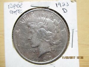 1923 D UNITED STATES PEACE DOLLAR