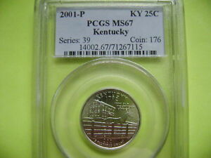 2001 P KENTUCKY PCGS MS67 STATEHOOD BUSINESS STRIKE QUARTER COIN