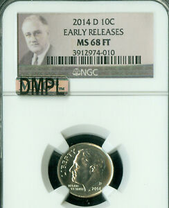 Click now to see the BUY IT NOW Price! 2014 D ROOSEVELT DIME NGC MAC MS68 FT PQ DMPL FINEST GRADE   .