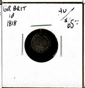 1818 GREAT BRITAIN MAUNDY PENNY AU
