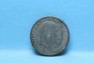 GREAT BRITAIN 1904 2 PENCE KM796 SILVER TONED UNC                       9 9
