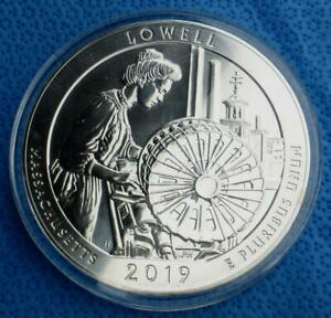2019 LOWELL AMERICA THE BEAUTIFUL 5 OUNCE .999 FINE SILVER QUARTER 5 OZ COIN