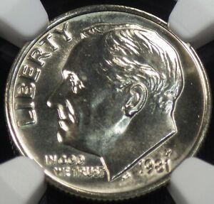 1981 P ROOSEVELT DIME NGC GRADED MS 66 FT