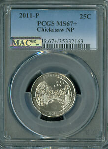 Click now to see the BUY IT NOW Price! 2011 P CHICKASAW QUARTER PCGS MAC MS67   PLUS PQ 2ND FINEST POP 3 SPOTLESS .