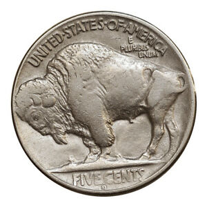 1925 D BUFFALO NICKEL   AU / ALMOST UNCIRCULATED