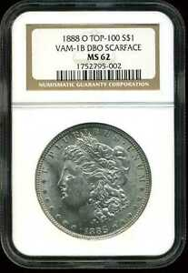 Click now to see the BUY IT NOW Price! 1888 O VAM 1B DBO SCARFACE TOP 100 $1 MORGAN SILVER DOLLAR MS62 NGC 1752795 002