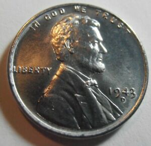 1943 D BU LINCOLN CENT  PREMIUM QUALITY HIGH GRADE MINT STATE COIN  43DQ1