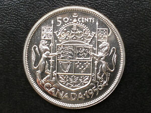 Click now to see the BUY IT NOW Price! 1956 CANADA FIFTY CENTS ELIZABETH II PROOF LIKE SILVER CANADIAN COIN A1909