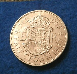 1967 GREAT BRITAIN 1/2 CROWN   SHARP COIN   SEE PICS